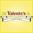 Valente's Restaurant Menu