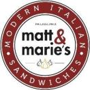 Matt & Marie's Menu