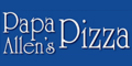 Papa Allen's Pizza Menu