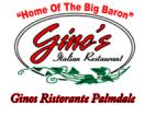 Gino's Italian Restaurant Menu