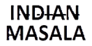 Indian Masala Menu