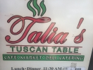 Talia's Tuscan Table Menu