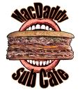 MacDaddy Sub Shop Menu