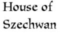 House of Szechwan Menu