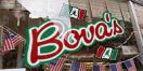 Bova's Bakery Menu