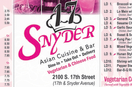 17 Snyder Menu