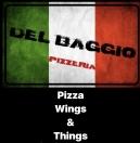Del Baggio Pizza Menu