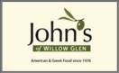 John's of Willow Glen Menu