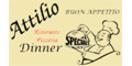 Attilio Ristorante Pizzeria Menu
