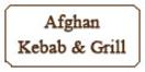 Afghan Kebab & Grill Menu