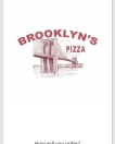 Brooklyn's Pizza Menu