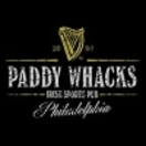Paddy Whacks Irish Sports Pub Menu