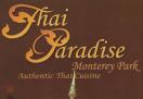 Thai Paradise Menu