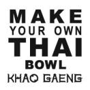 Khao Gaeng, Make-Your-Own Thai Bowl Menu
