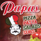 Papa's Pizza Menu