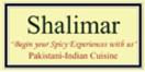 Shalimar Pakistani-Indian Cuisine Menu