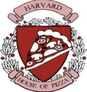 Harvard House of Pizza Menu