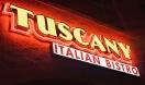 Tuscany Italian Bistro Menu