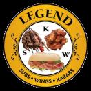 Legend Subs, Wings & Kababs Menu