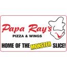 Papa Ray's Pizza and Wings Menu
