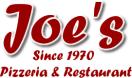 Joe's Pizzeria Menu