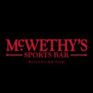 McWethy's Sports Bar Menu