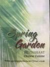 Spring Garden Menu