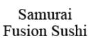 Samurai Fusion Sushi Menu