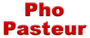 Pho Pasteur Menu