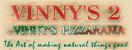 Vinny's 2 Menu