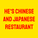 He's Chinese and Japanese Restaurant Menu