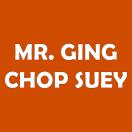 Mr. Ging Chop Suey Menu