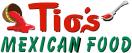 Tio's Mexican Food Menu