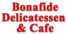 Bonafide Delicatessen and Cafe Menu