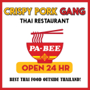 Crispy Pork Gang Restaurant Menu
