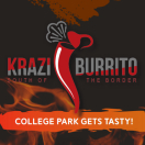 Krazi Burrito Menu