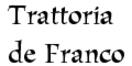 Trattoria de Franco Menu