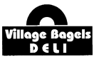 Village Bagels Menu