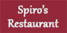 Spiro's Restaurant Menu
