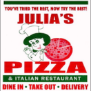 Julia's Pizza Restaurant Menu