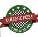 College Pizza Menu