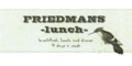 Friedmans Menu