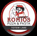 Romio's Pizza Menu
