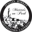Matera's On Park Menu