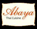 Abaya Thai Menu