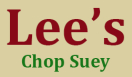 Lee's Chop Suey Menu