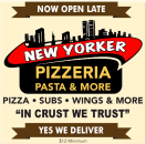 New York Pizza & Pasta Menu