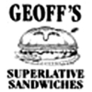 Geoff's Superlative Sandwiches Menu