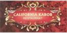 California Kabob Restaurant Menu