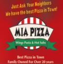 Mia Pizza Menu
